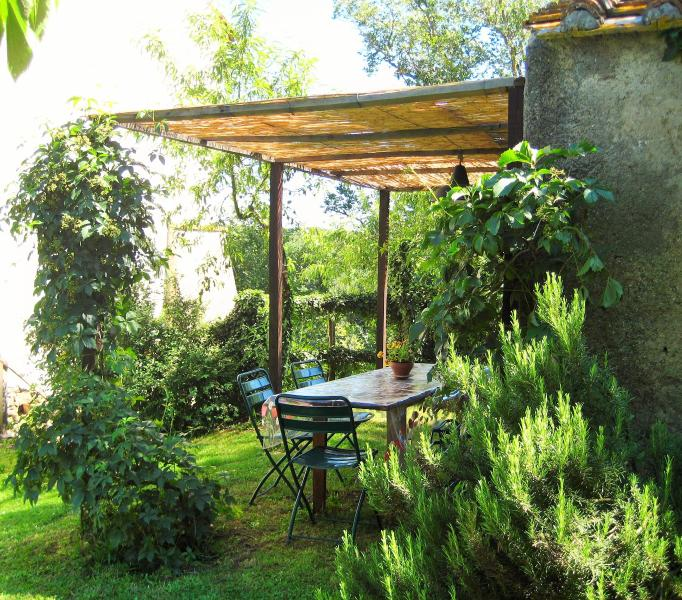 forno a legna - wood oven and patio