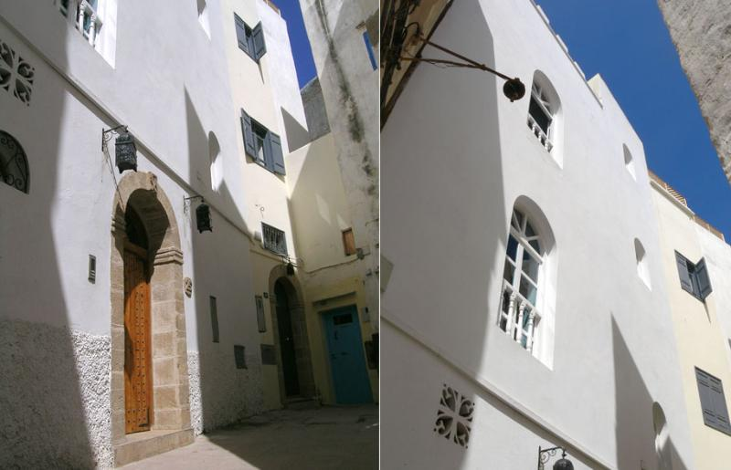 Facade - the riad is situated in a quiet cul-de-sac
