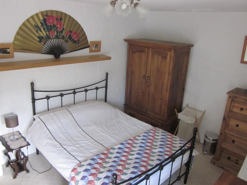 Main Bedroom with double bed and memory foam mattress.