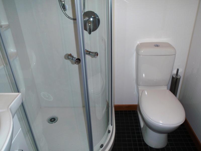 The main bathroom also has a heated towel rail and a heated floor.
