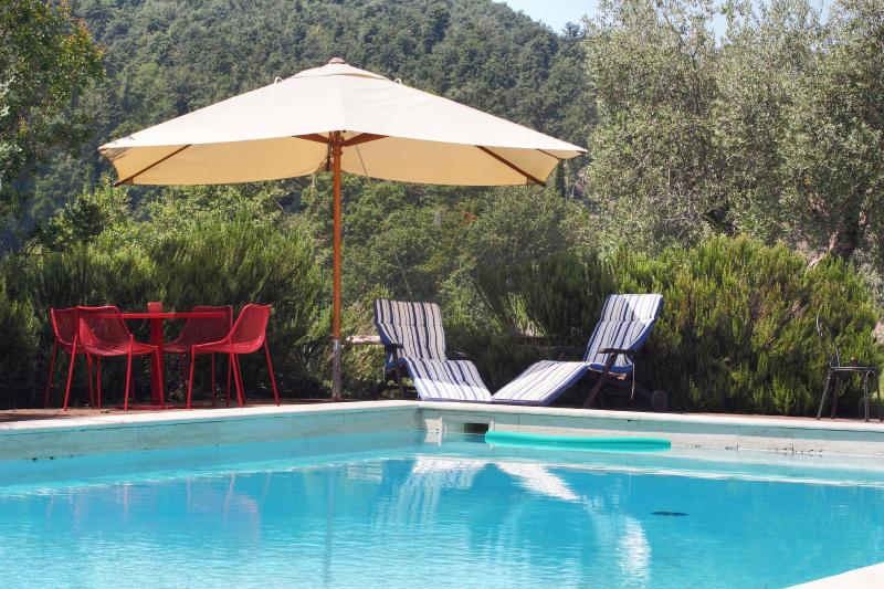 relax by our swimmingpool surrounded by the pine forests and gardens ..