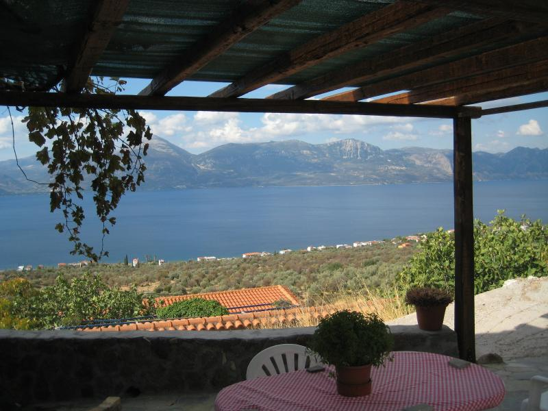 View from the Olive Barn across the Bay of Epidavros