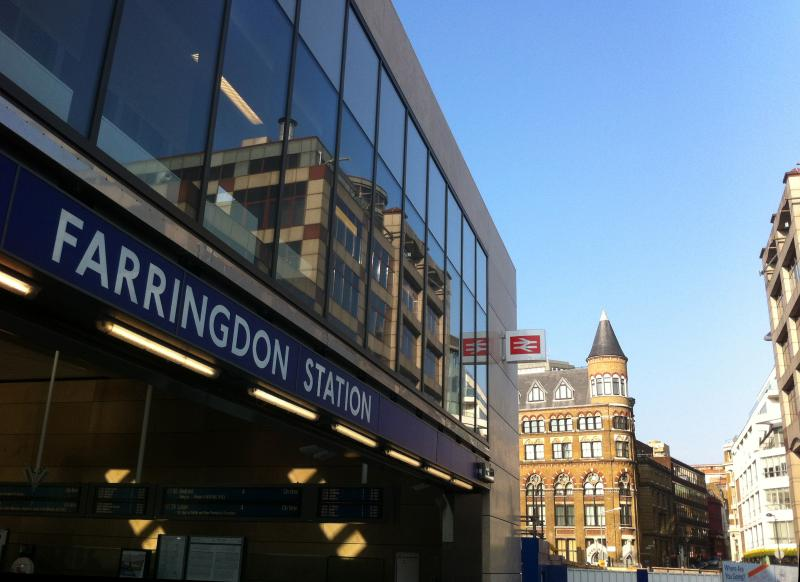 View from Farringdon Station
