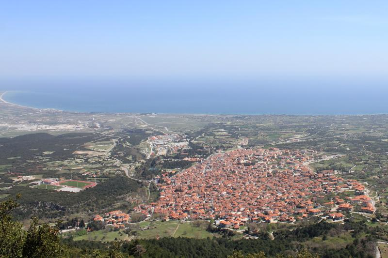 Litochoro, view from the mountain