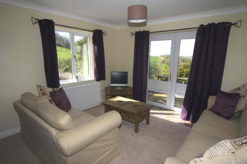 Lounge with stunning views of Dartmoor