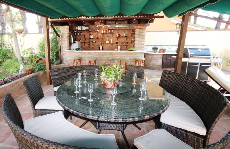 Outside dining area and Pool bar