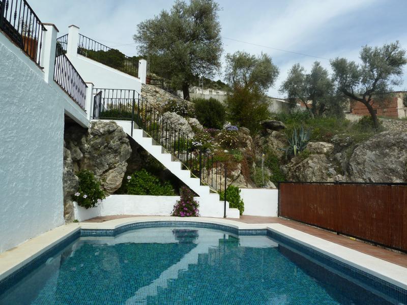 Beautiful gated swimming pool