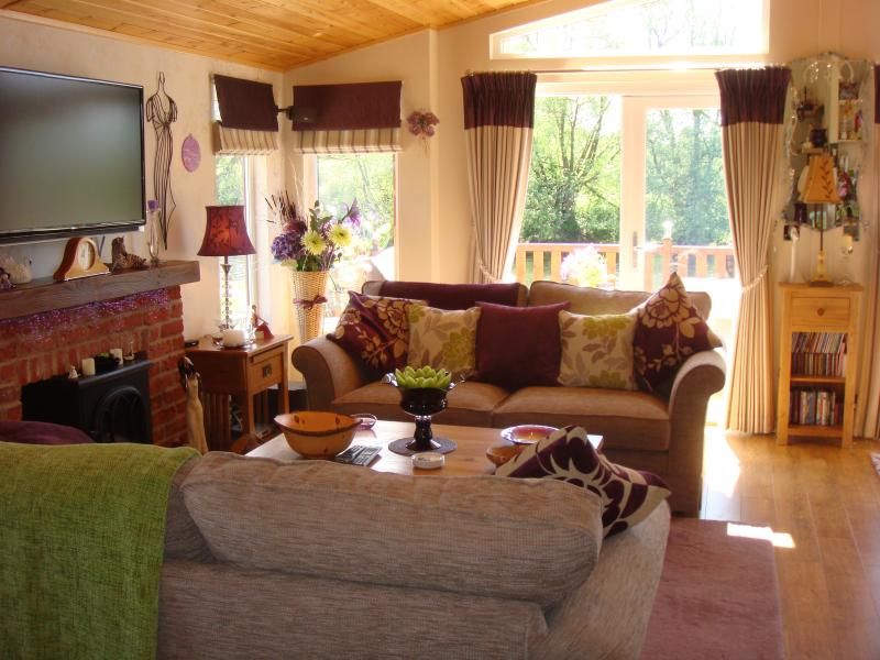 Lounge with views of the river