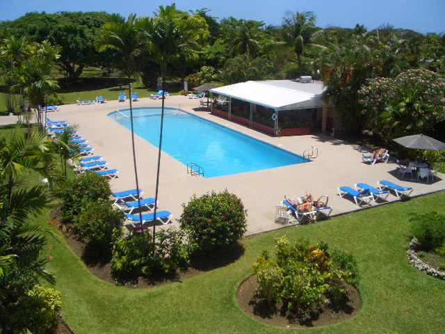 Our shared 24 metre pool and restaurant, view from apartment