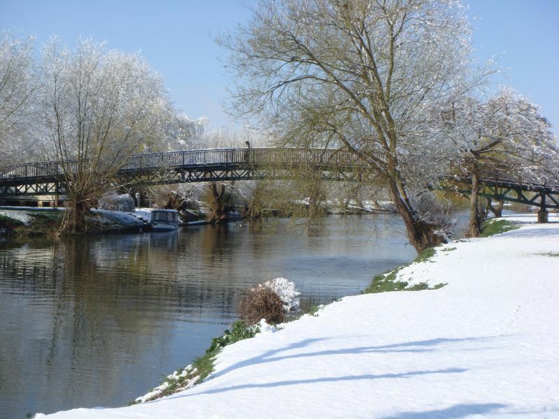 Winter scene from lodge