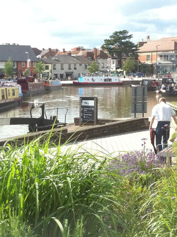 Barges in Stratford Town