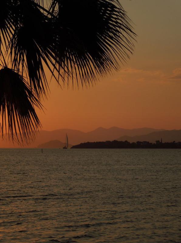 Sunset over Fethiye bay, taken from the promenade