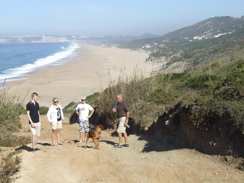 One of the spectacular Silver Coast beaches