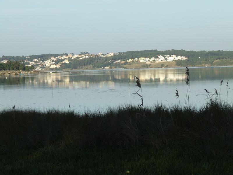 Looking across Lagoa de Obidos towards the villa on opposite side