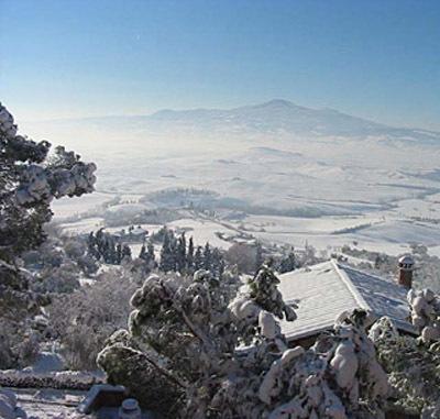 Monte Amiata in inverno, la neve