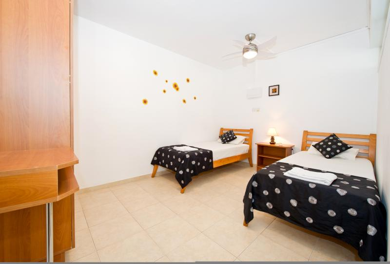 Bedroom 5 on lower/pool Level with 2 single beds