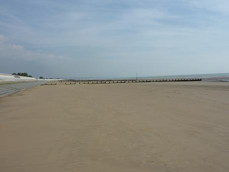 The lovely sandy beach of Dymchurch, just a short walk away.
