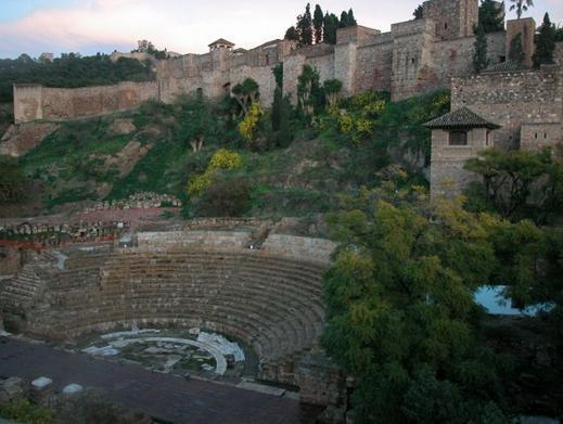 THE ROMAN TEATHRE AND ALCAZABA CASTLE
