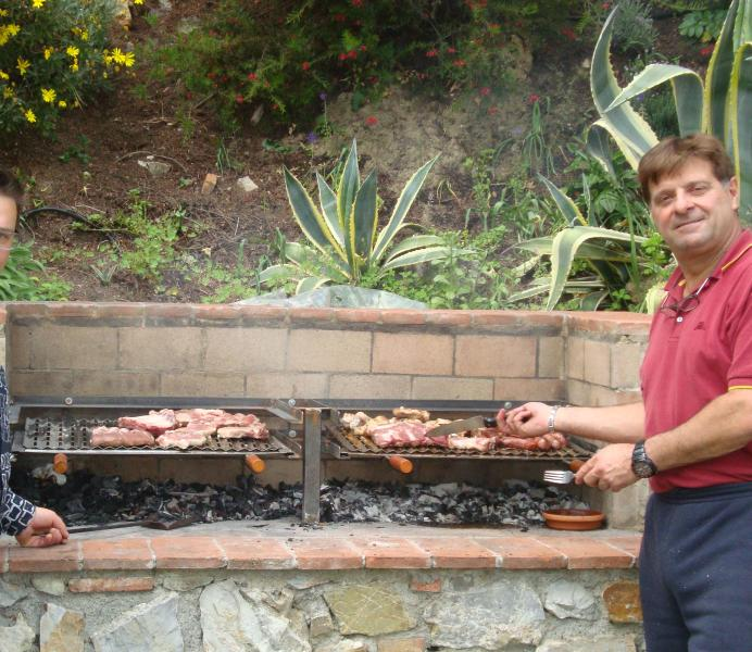 New BBQ /  Kitchen for Fiordaliso house into private garden, Thanks  Daniel for your nice churrasco