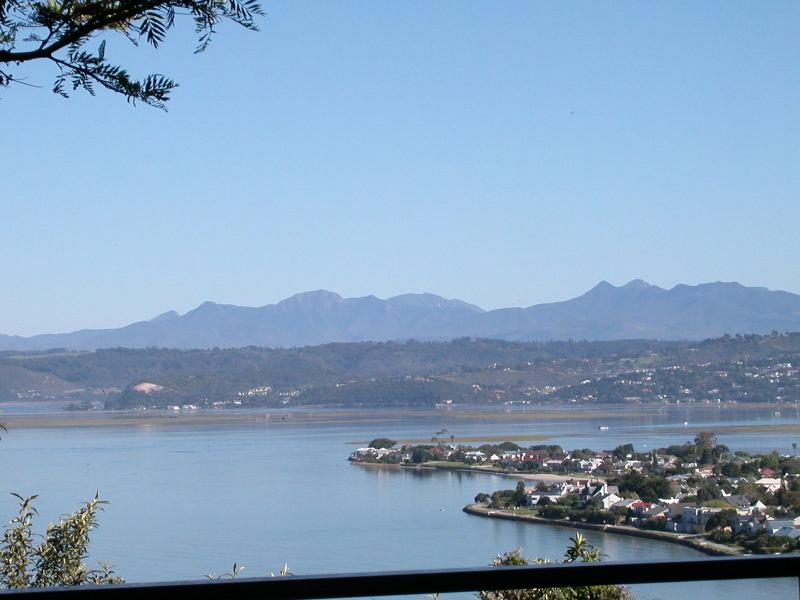 view from deck northbynorthwest over Lagoon - Leisure Isle to Outeniqua Mountains