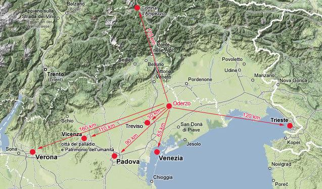 map, gateway to Italy's most valuables attractions