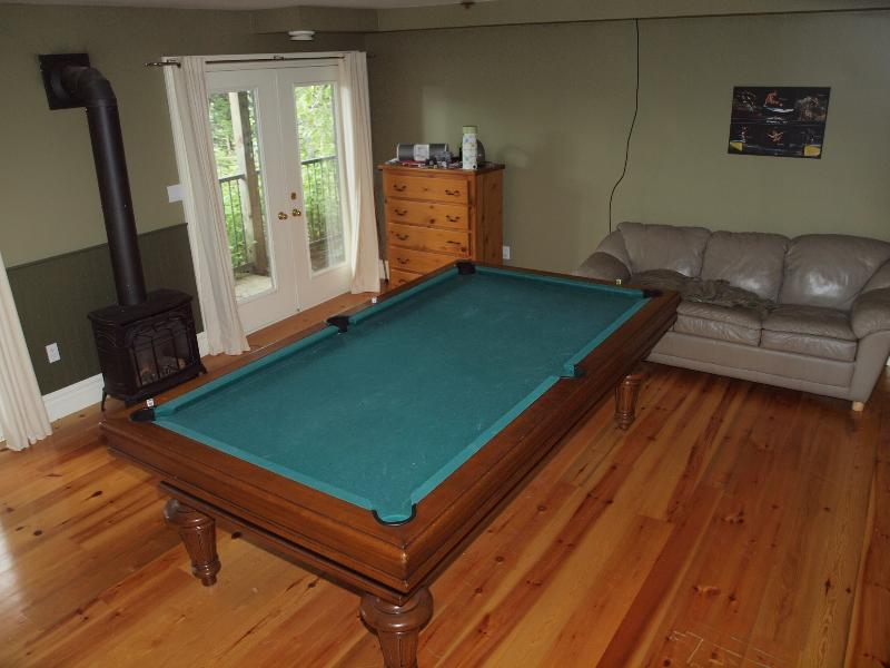Pool table in the basement.