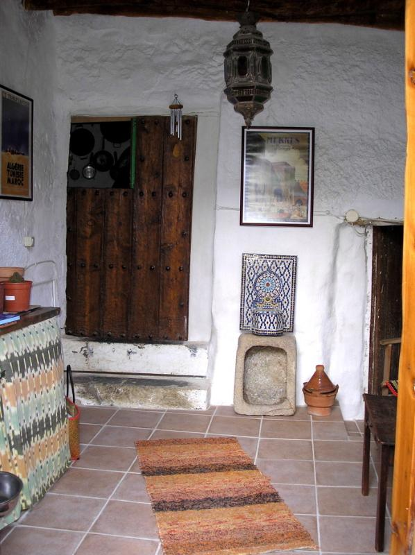 Inside porch with main door at rear.