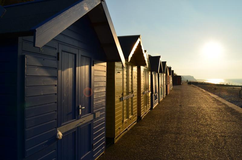 Beach Huts on Cromer Beach