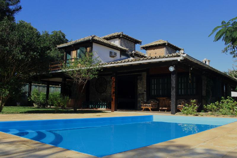Our villa with the pool area