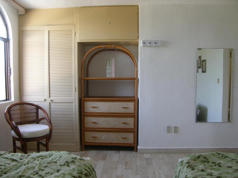 Closet and dresser/mirror