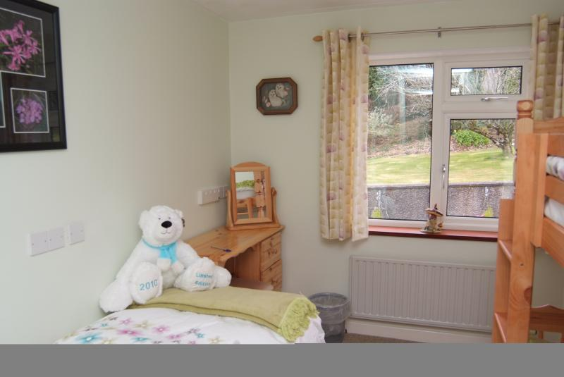 Bedroom 3 two 3ft bunks and 1 single bed.  Wardrobe & dressing table