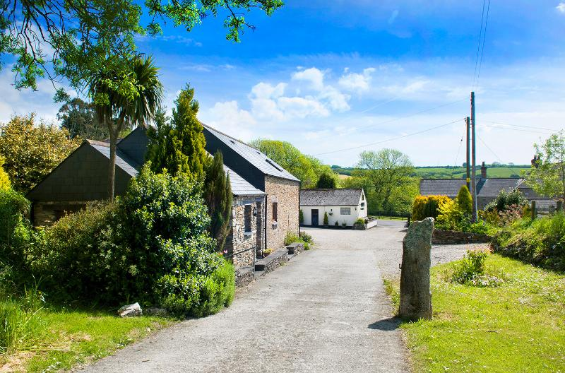 Entrance to Ricann cottages from our own long private tree lined drive