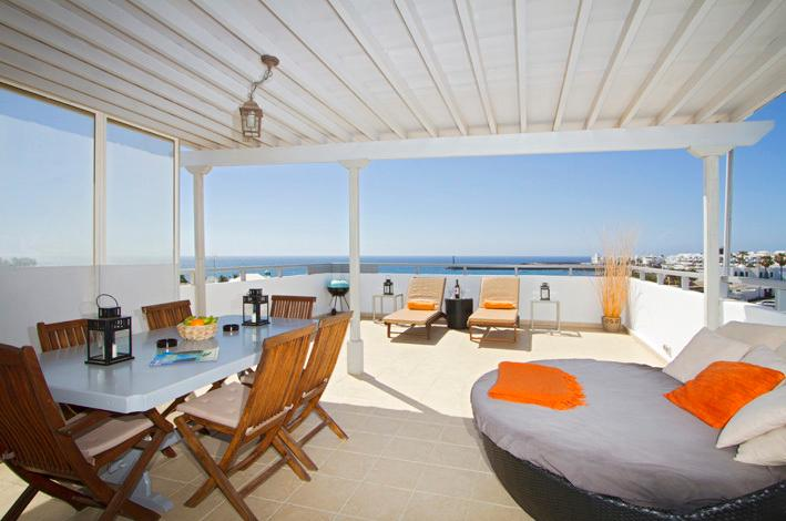 Ocean View Penthouse Terrace and View to Las Cucharas Beach
