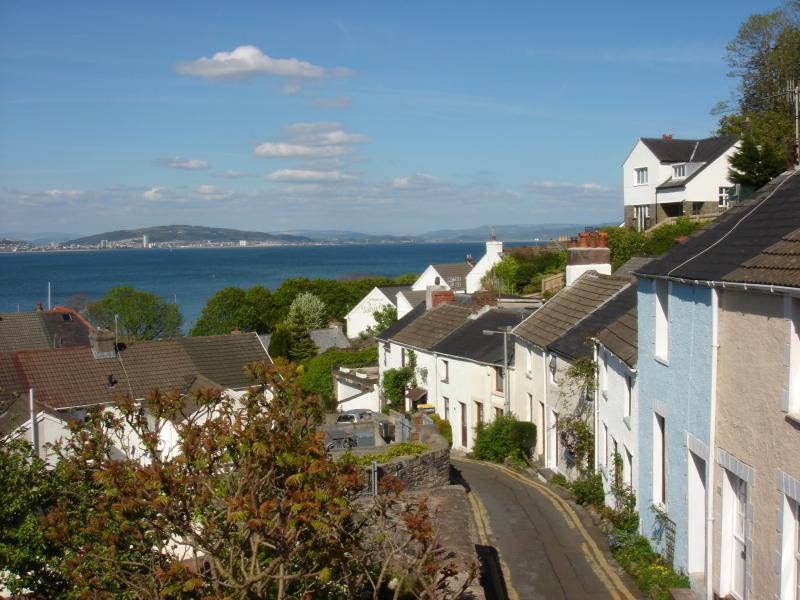 It is just a short stroll along a string of colouful cottages down to the Mumbles Promanade