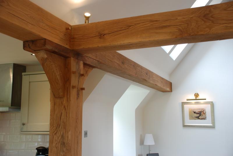 Oak posts and beams