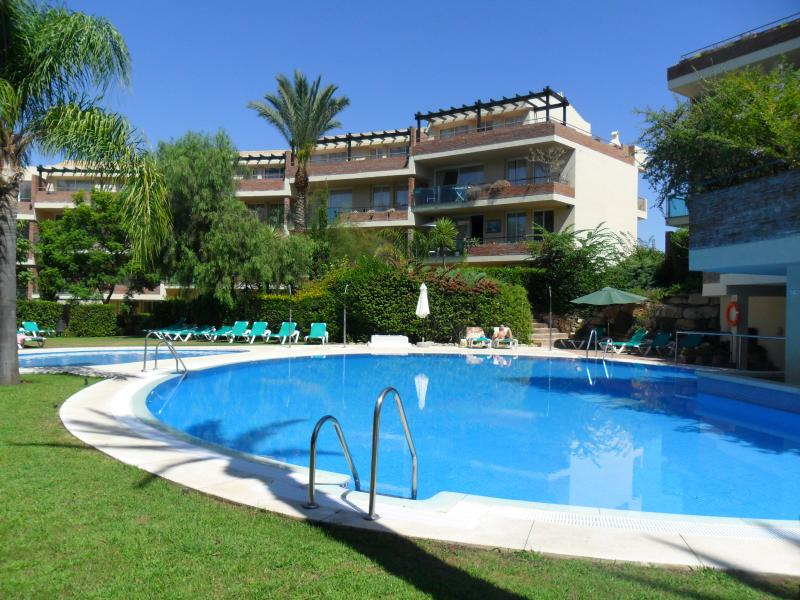 Secluded adult + children's pool area. Plenty of sunbeds available