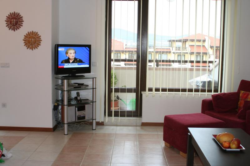 sitting room with balcony