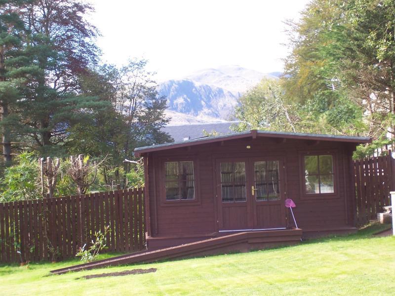 View of Ben Ledi from the garden.