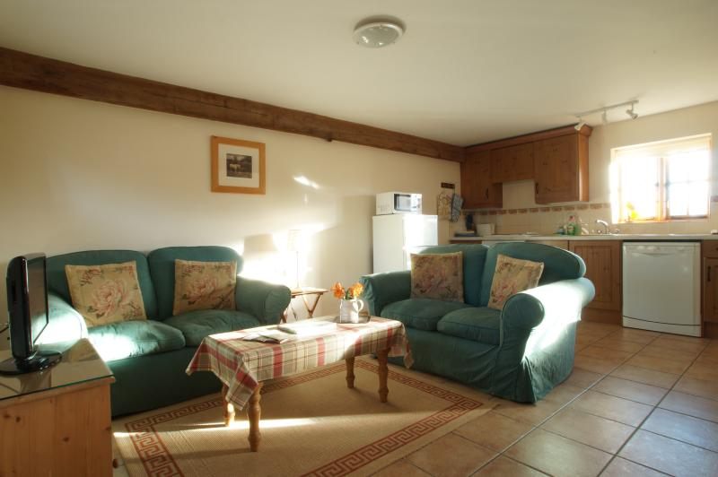 Living Room of Fallow Cottage at Hucklesbrook Farm
