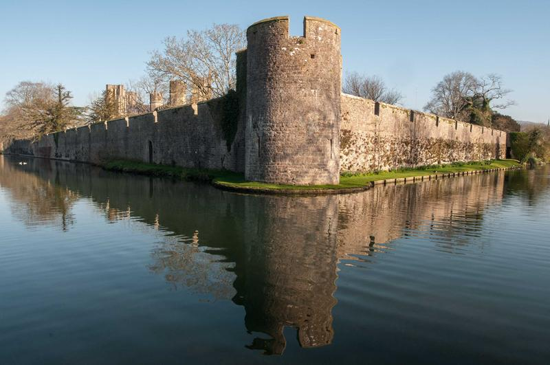 The moated Bishop's Palace, Wells.