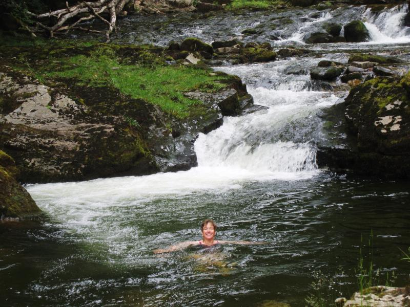 Go Wild!  Nothing beats a cool river dip after a hot summer walk!