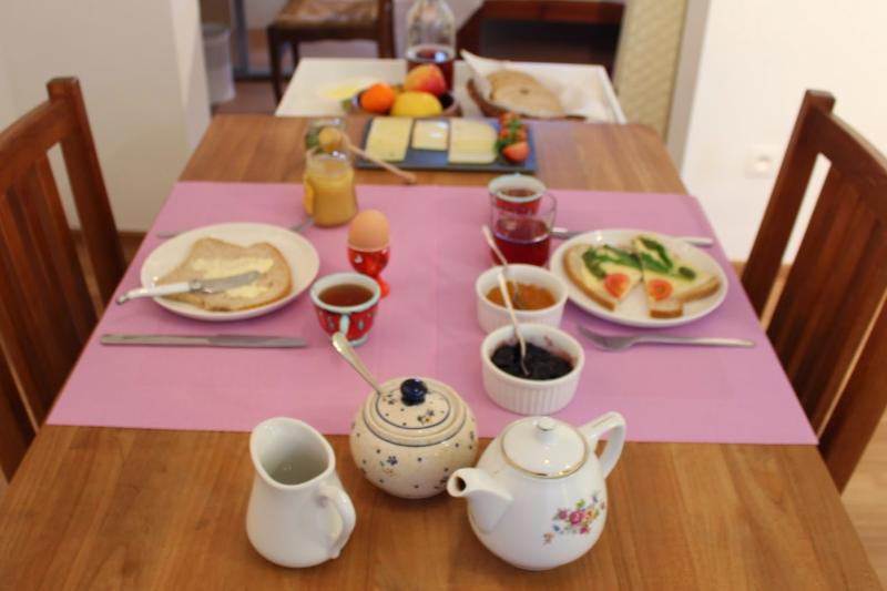 You can enjoy this rich breakfast in your private livingroom