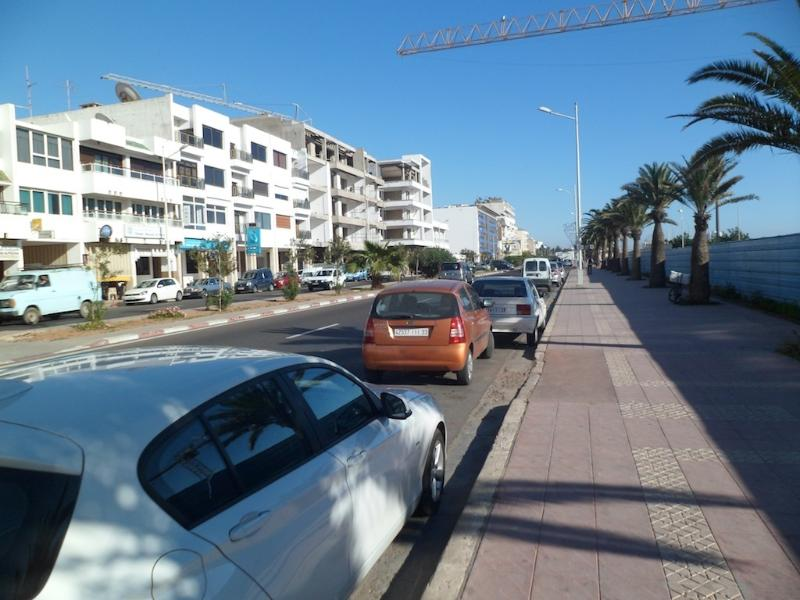 View of the main street leads to the beach