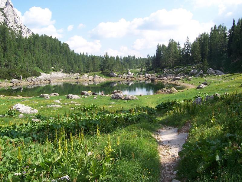 Vale dos 7 lagos no Parque Nacional de Triglav