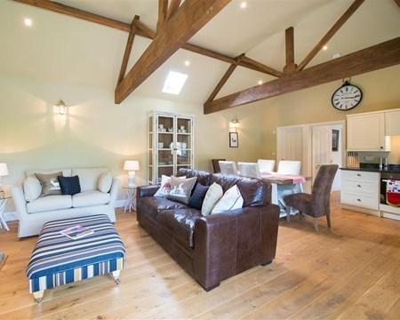 Comfortable interior of Dockenbush Cottage