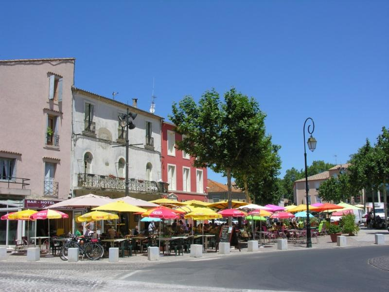 Villeneuve square with two excellent restaurants - Le Grand Cafe and Les Enfants Terribles