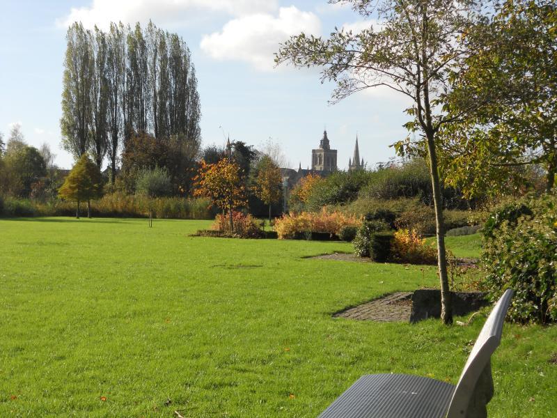 vue sur le parc de Poperinge à 1 km du B&B