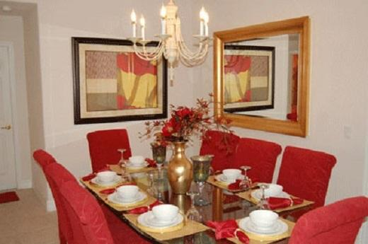 Large and extended Dinning room setting for 8 can set up to 10