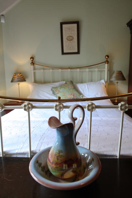 Queen bed to front of castle, relax & take time to enjoy your special stay in Ireland
