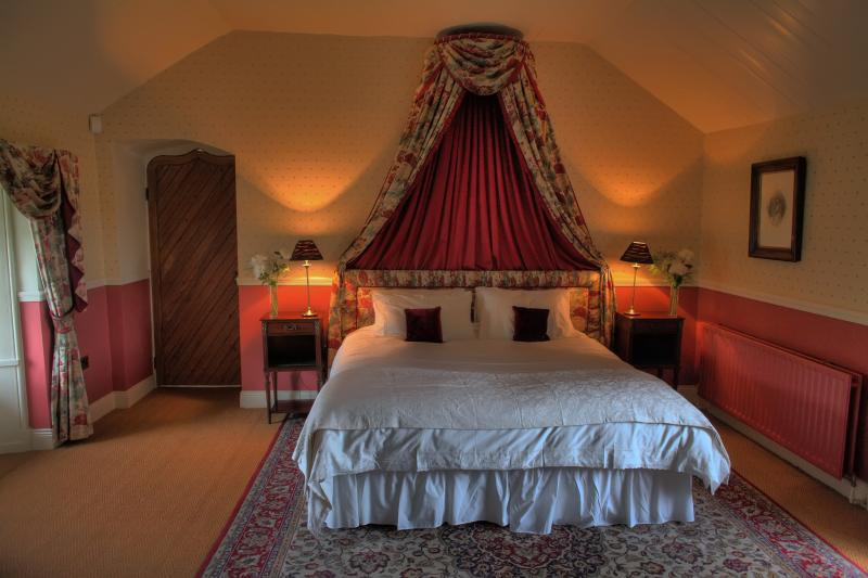 Master bedroom at your Irish Castle, looks out over patio & garden, can also be 2 twin beds